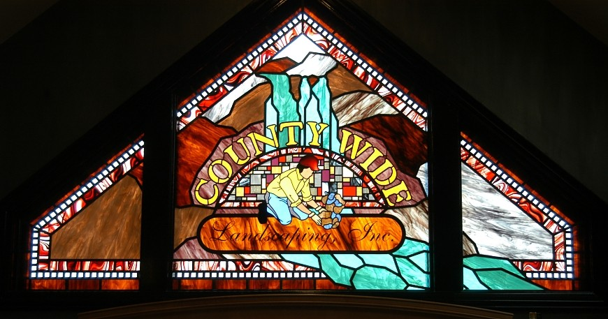 Company Logo Stained Glass Window