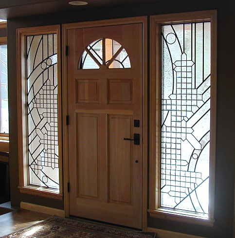 beveled glass entry windows