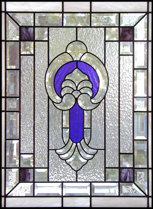 Beveled Glass Door