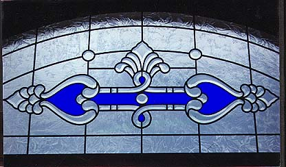custom beveled glass transom