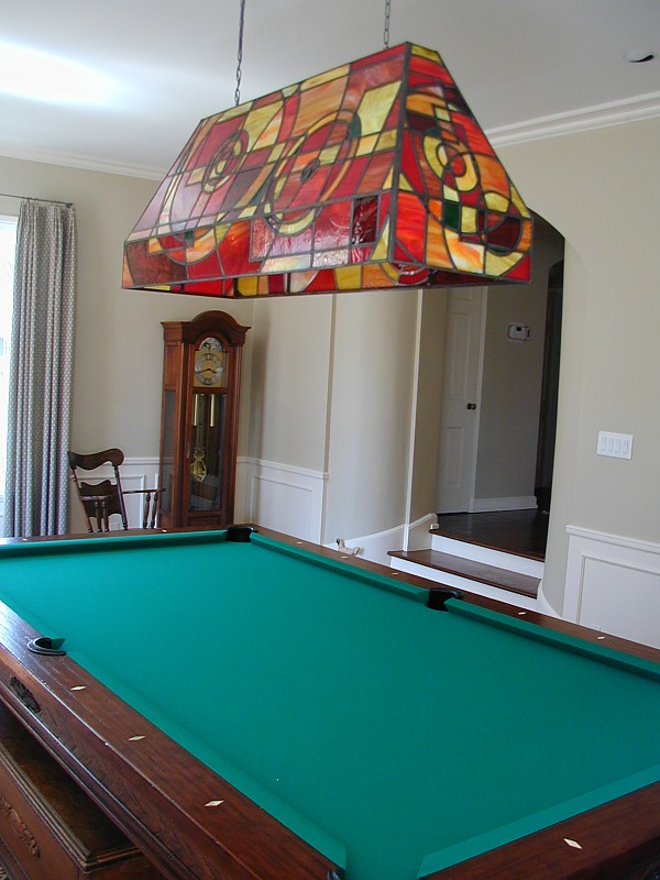 Custom stained glass pool table light aloadofball