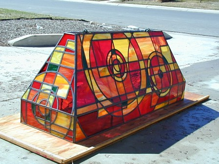 Custom stained glass pool table light aloadofball Gallery