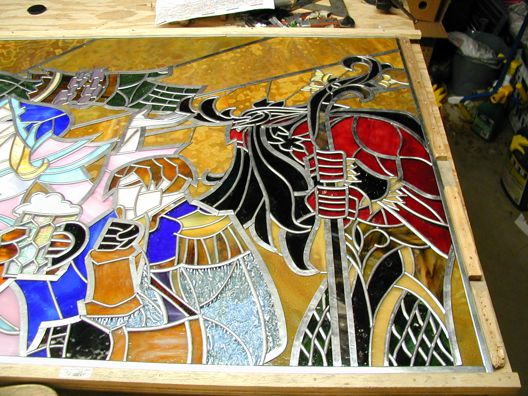 hearthstone stained glass project detail,blizzard art,blizzard artwork,blizzard stained glass