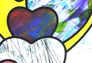 love stained glass,heart stained glass,personalized wedding gift