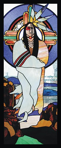 native american art,indian art,native american stained glass,spiritual art,religious art