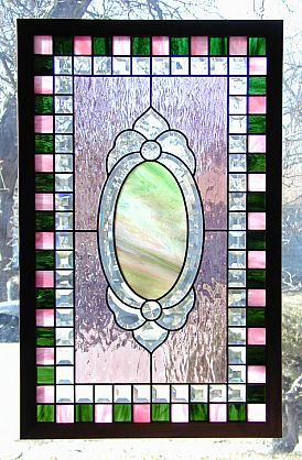 stained and beveled glass