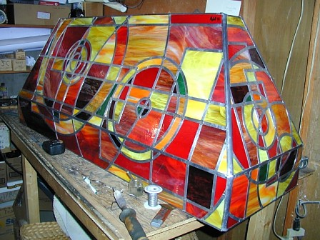 pool table stained glass lamp shade