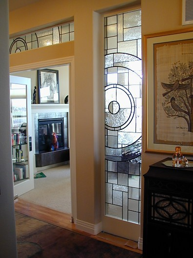 colorless contemporary stained glass