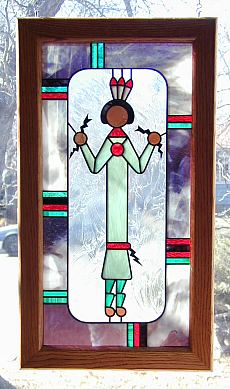 native american stained glass,navajo sand painting