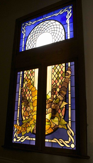 stained and beveled glass together