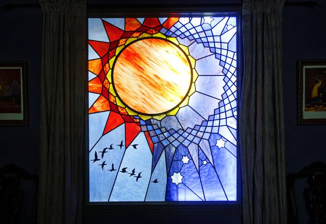 stars stained glass
