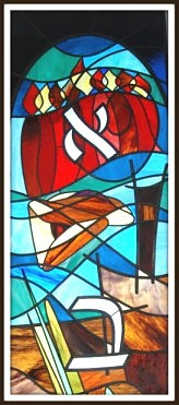 synagogue stained glass detail