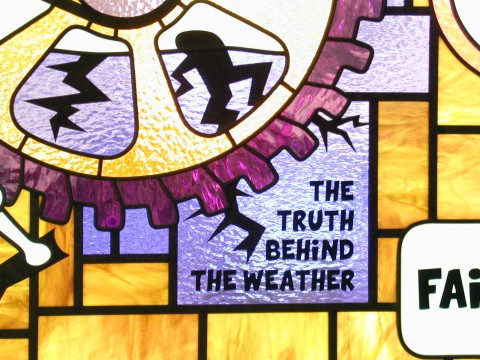 weather stained glass