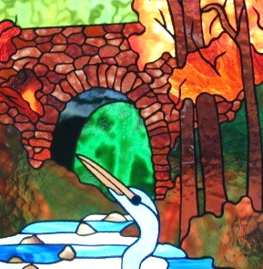 wildlife art stained glass